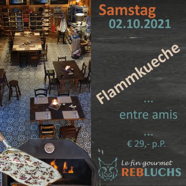 Flammkuchenabend -  Soirée Tarte Flambée - 02.10.2021