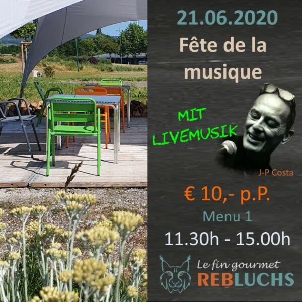 Menu1 - Fête de la Musique - TEIL 1, 11.30h - 15.00h - Sonntag, 21.Juni 2020