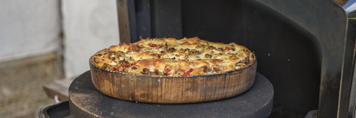 Gegrillte Lasagne von Kalbfleisch und Gemüse