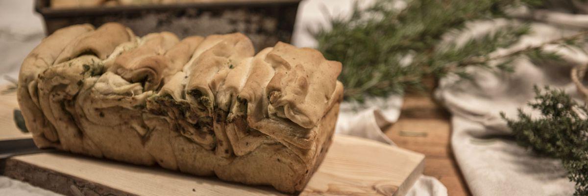 Winterliches Faltenbrot im MERKLINGER Holzbackofen gebacken