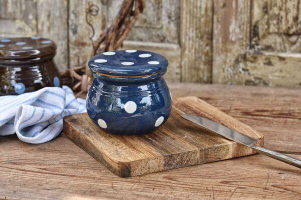 Butterdose 'Lilly', blau