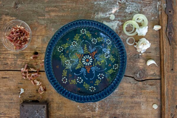 Tarteform 'Charlotte', ø 32 cm, blau
