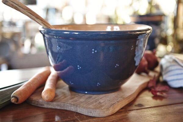 Salatschüssel 'Agathe', ø 28cm, dunkelblau