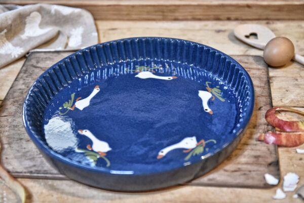 Tarteform 'Laufente', ø 32 cm, dunkelblau