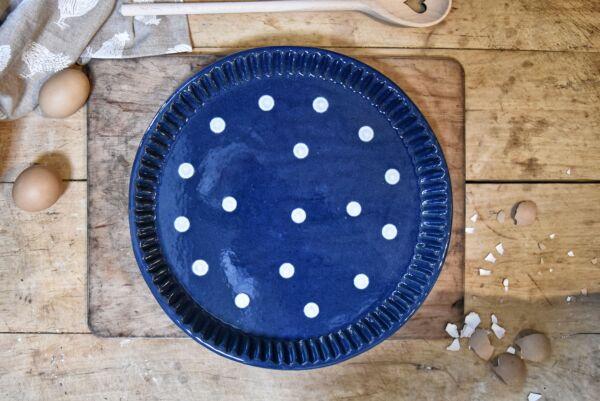 Tarteform 'Lilly', ø 32 cm, dunkelblau