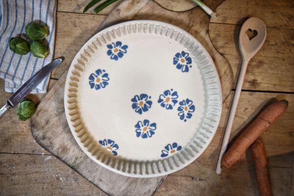 Tarteform 'Marguerites', ø 32 cm, weiß