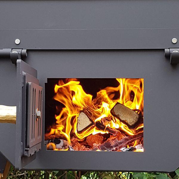 Abbrand des Holzes