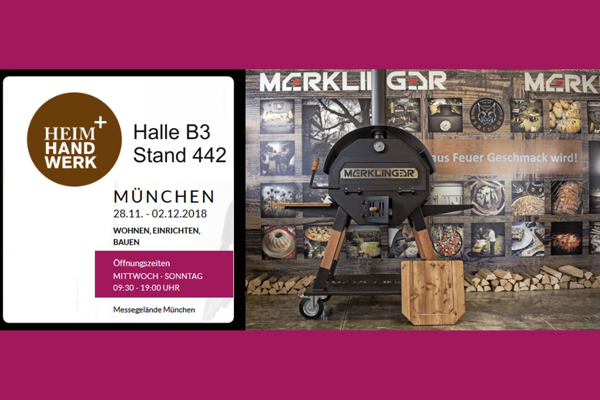 heim + handwerk, 28.11. - 02.12.2018, Messe München, wir stellen aus