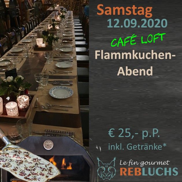 Flammkuchenabend - Soirée Tarte Flambée - 12.09.2020