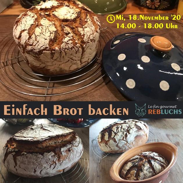 Backwerkstatt: Einfach Brot backen, Mi 18.11.2020