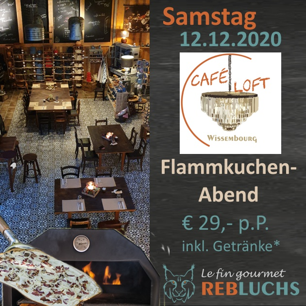 Flammkuchenabend - Soirée Tarte Flambée - 12.12.2020