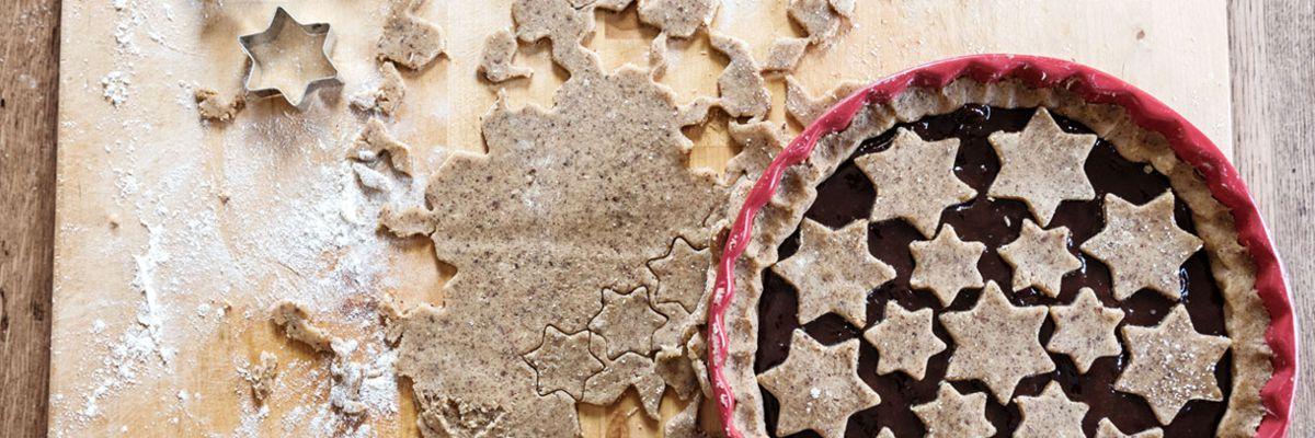 Linzertorte aus dem Holzbackofen